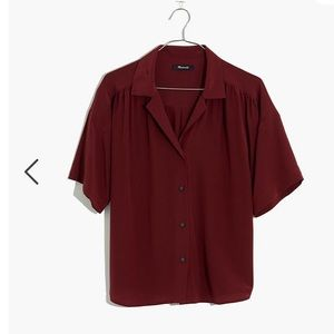 Madewell Silk Camp Shirt size small